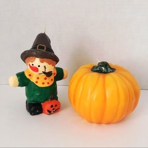 Other - Scarecrow & Pumpkin Candle Set